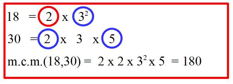 Minimo comune multiplo tra 18 e 30, con errore