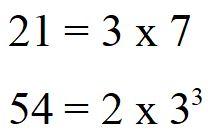 Minimo comune multiplo tra 21 e 54