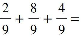 Somma tra frazioni con lo stesso denominatore