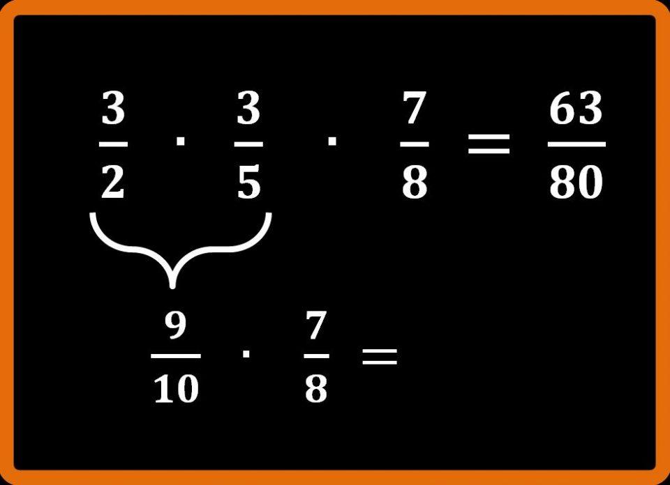 Moltiplicazione tra frazioni e semplificazione in croce
