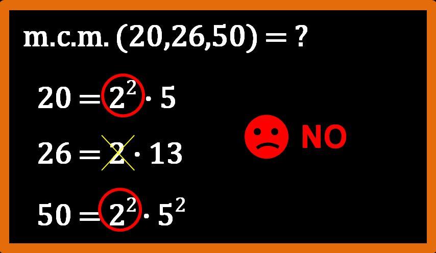 Minimo comune multiplo tra 3 numeri