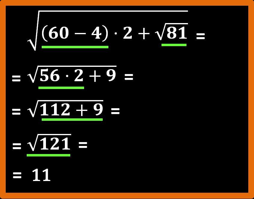 Espressioni con le radici quadrate