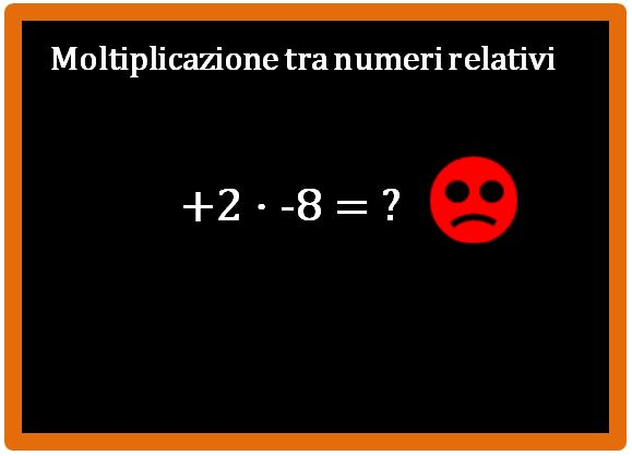 Moltiplicazione tra numeri relativi