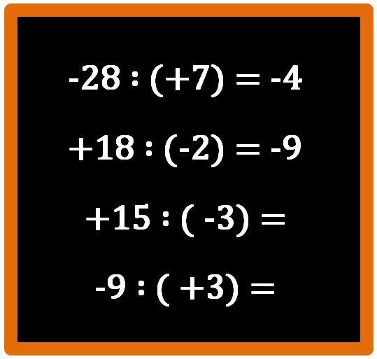 Moltiplicazione e divisione tra numeri relativi
