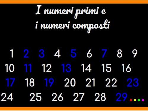 I numeri primi e i numeri composti