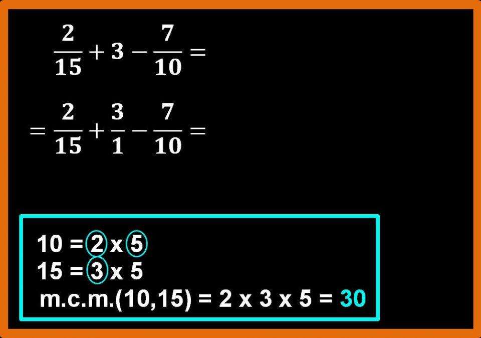 Altri esempi di addizione e sottrazione tra frazioni