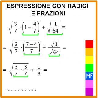 Espressioni radici e frazioni