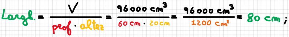 Formule inverse del volume del parallelepipedo