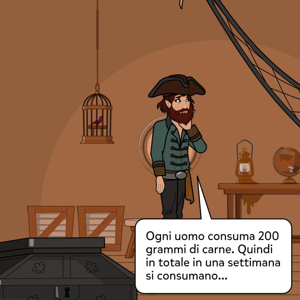 Il comandante Cook e la mancanza di provviste